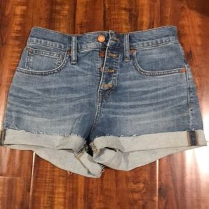 Madewell high rise jean short size 25